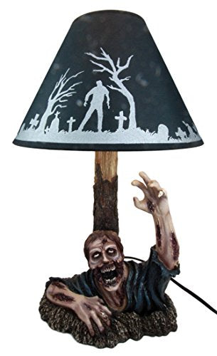 "Ebros Gift Zombie Rising from The Grave Desktop Table Lamp Statue Decor with Shade 20""H"