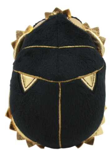 Black and Gold Egyptian God Atum Khepera Scarab Beetle Small Soft Plush Doll