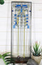 "Ebros Frank Lloyd Wright Waterlilies Stained Glass Art Wall Decor Plaque 15""H"