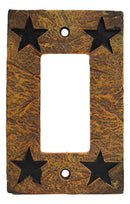 Set of 2 Western Stars Silhouette Wall Single Gang Rocker Switch Cover Plates
