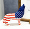 Patriotic American US Flag Native Tribal Howling Wolf Spirit Figurine Collection