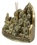 Tibetan Buddhism Altar Shrine Incense Holder Display With 12 Mini Buddhas Set