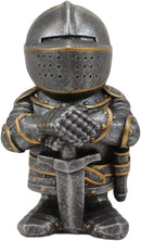 "Ebros Anime Chibi Medieval Knight of The Cross Templar Crusader Figurine 4.5"" H"