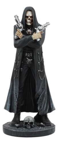 Assassin's Creed Hooded Grim Reaper Skeleton With Dual Beretta Pistols Statue - Atlantic Collectibles