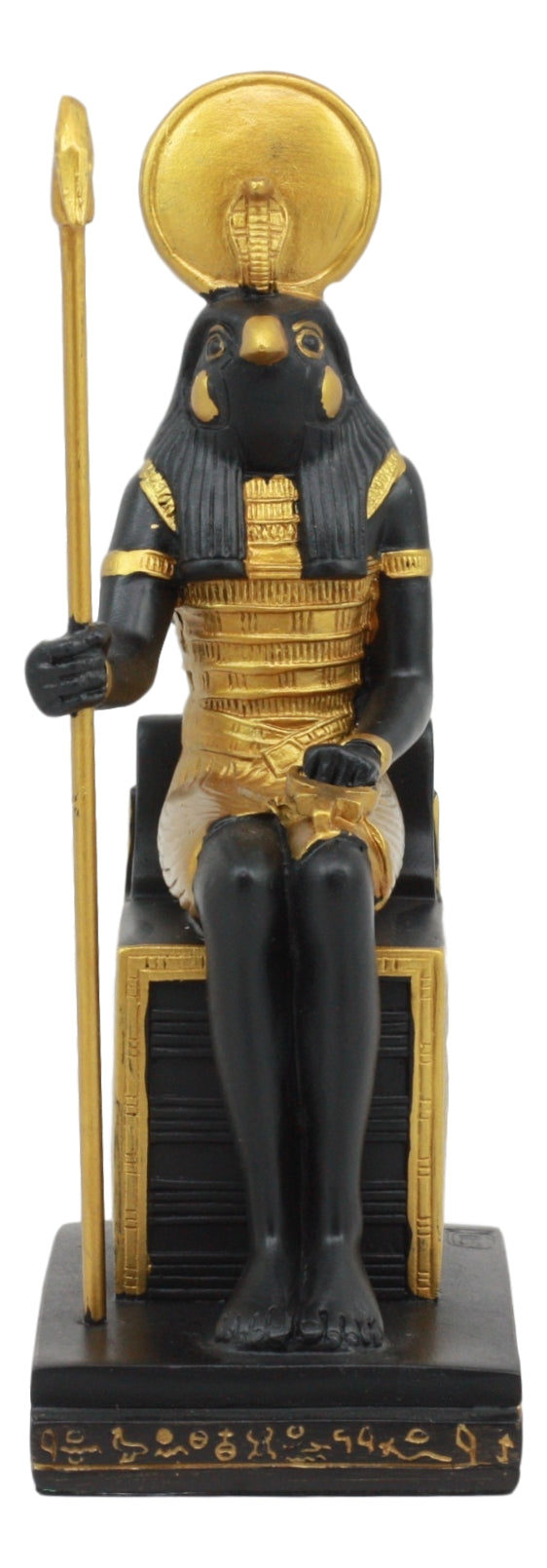 Ebros Classical Egyptian Gods and Goddesses Seated On Throne Statue Gods of Egypt Ruler of Mankind Decorative Figurine … (Horus God of The Sky)