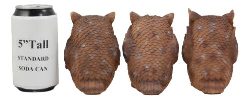 Ebros See Hear Speak No Evil Wise Owls Figurine Decor Set Wisdom of The Woods Wise Great Horned Owls Collectible Statue