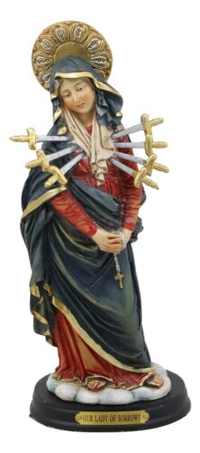 Our Lady Of Seven Sorrows Mater Dolorosa Standing Blessed Virgin Mary Statue