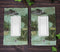 Pack of 2 Wildlife Bayou Swamp Alligator Single Gang Rocker Switch Wall Plate