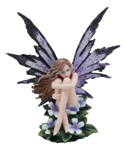 "Amy Brown Whimsical ""Luna"" Periwinkle Flower Nude Garden Fairy Figurine Fae"