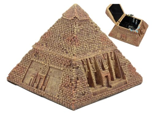 "Ancient Egyptian Pyramid Box 7""Wide The Great Pyramid Of Khufu Sculpture"