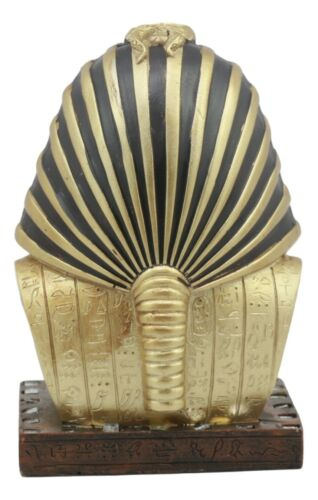 "Ancient Egyptian Mask Of King Tut Bust Statue 6""H Pharaoh Tutankhamun With Nemes"