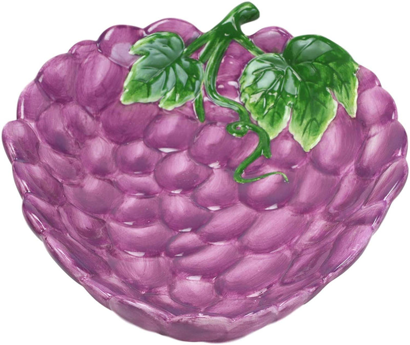 "Ebros 10.25"" Long Fresh Hearty Bunch Grape Clusters Dish Platter Serving Plate - Ebros Gift"