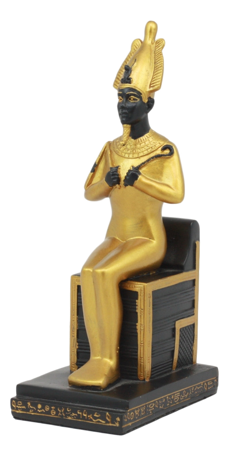 Ebros Classical Egyptian Gods and Goddesses Seated On Throne Statue Gods of Egypt Ruler of Mankind Decorative Figurine … (Osiris God of The Afterlife)