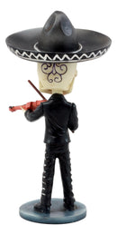 Ebros Day Of The Dead Skeleton Wedding Mariachi Violin Player Bobblehead Figurine Traditional Folklore Mexican Musician Sculpture