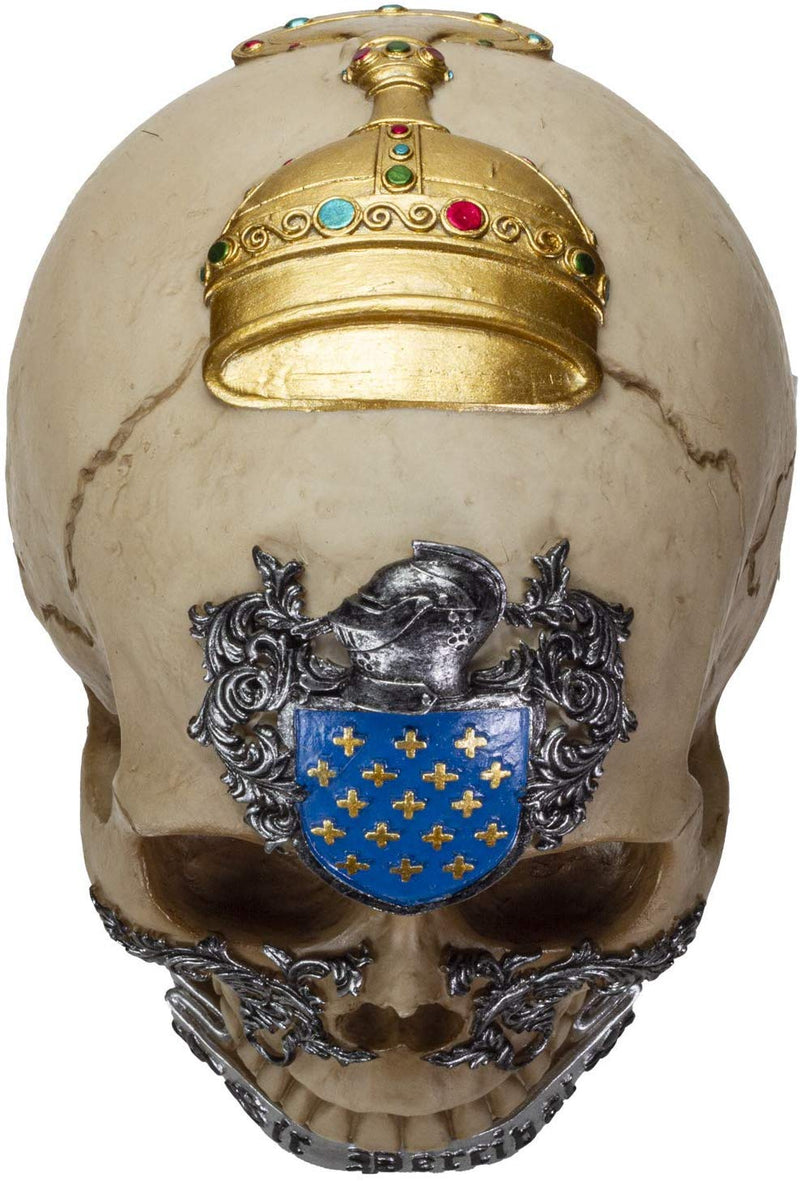 Ebros The Knights of The Round Table Skulls Sir Geraint Resin Skull Figurine