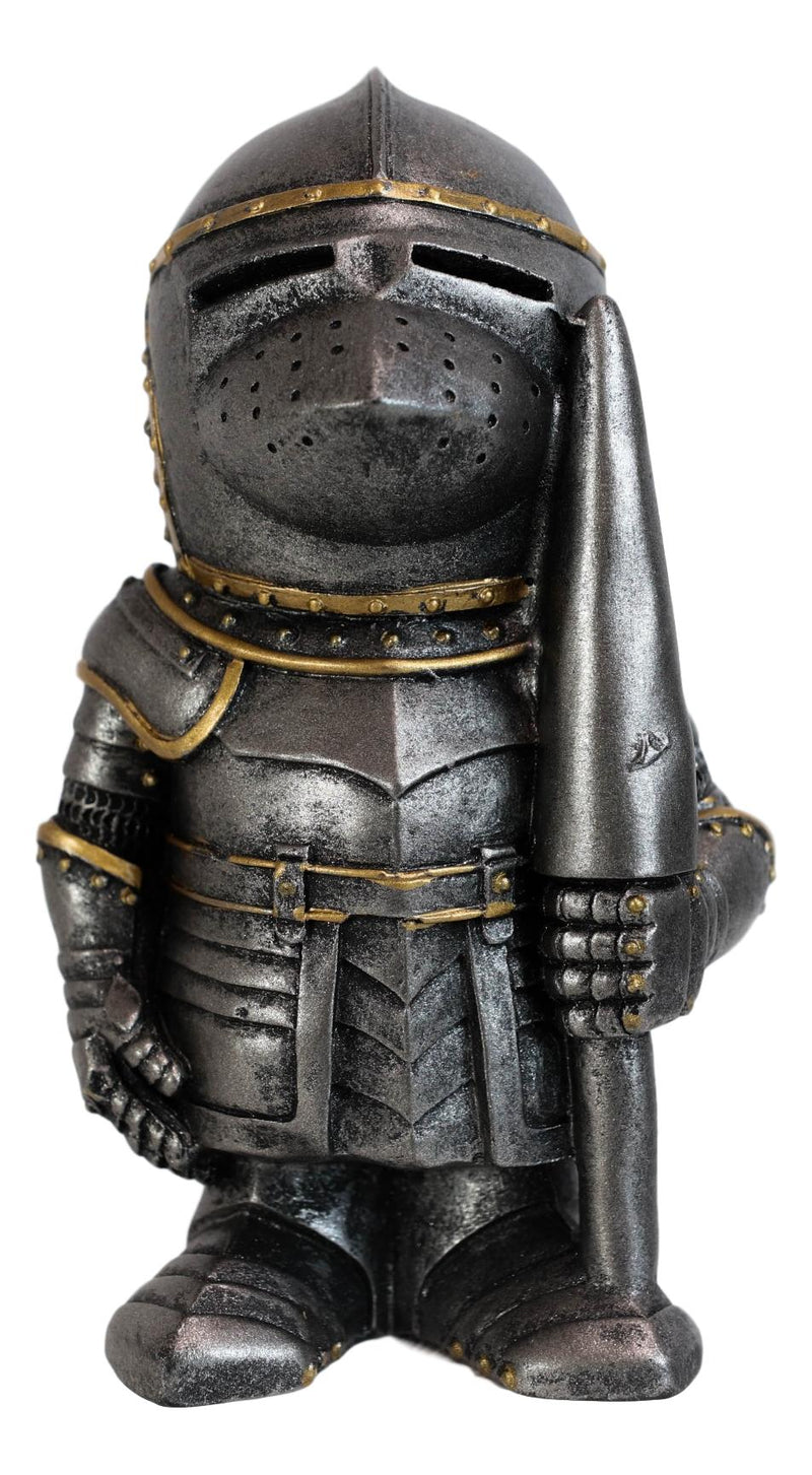 "Anime Chibi Medieval Knight Suit Of Armor With Jousting Lance Pike Figurine 4""H"