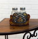 Western Revolver Six Shooter Pistols On Belt Buckle Salt And Pepper Shakers Set