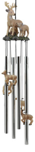 Ebros Deer Wind Chime Doe With Fawn Deer Family Decorative Wind Chime Patio