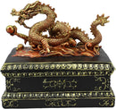 Ebros Chinese Daoism Imperial Nine Dragons Dragon King Decorative Trinket Box