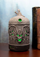 Celtic Knotwork Winged Dragon Skull Aroma Oil Diffuser With Colorful LED Lights