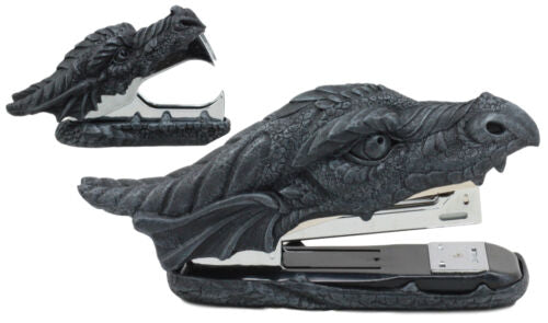 Medieval Smaug Fire Dragon Head Stapler And Staple Remover Office Desk Decors