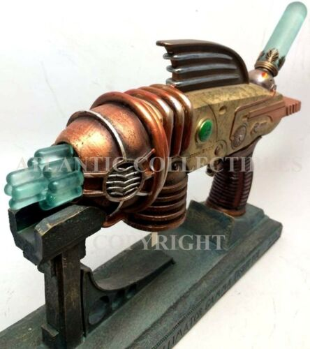 Ebros 12 Inch Steampunk Themed Hand Gun with Stand Statue Figurine