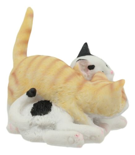 Feline Cat Two Playful Kittens Statue Adorable American Shorthair Kitty Cats