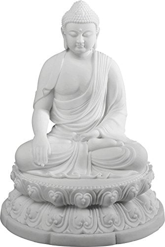 "Ebros Enlightenment Buddha Sakayamuni Meditate on Lotus 7"" H Sculpture Buddhism Figurine"