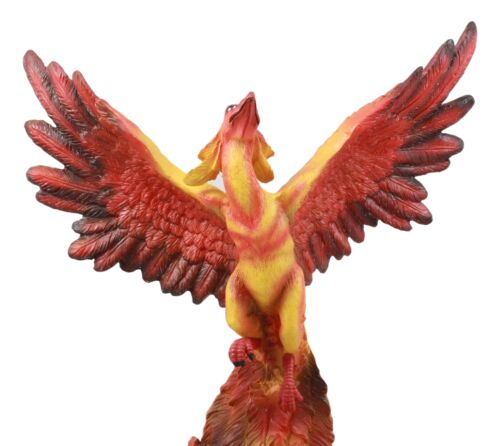 Ebros Fawkes Resurrection of The Phoenix Fire Bird Statue Symbol of Transformation and Rebirth Figurine