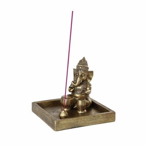 Ebros Hindu God Ganesha Elephant Meditation Theme Incense Burner Collectible
