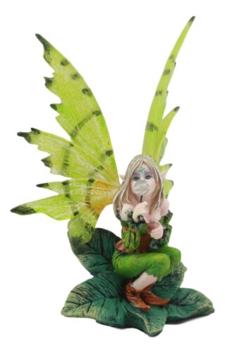 80a5485dd6f6e Mythical Goddess Green Earth Pixie Dust Fairy Blowing Crystal Bubble Statue  6