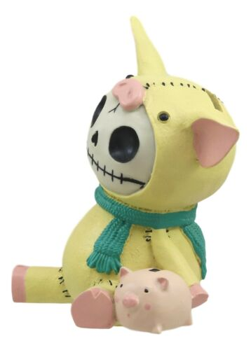 "Furrybones Piggy Voodoo Skeleton Small Money Bank Statue 5.5""Tall Furry Bones"