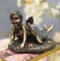 "Merbaby Dolphin Figurine 3.75"" Long Small Mermaid Baby Playing with Dolphin"