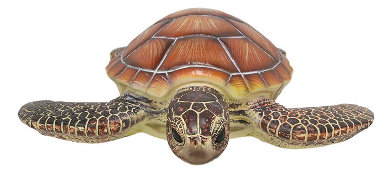 "Ebros Coastal Swimming Brown Sea Turtle Wall Decor Hanging Plaque 11.25"" Long"