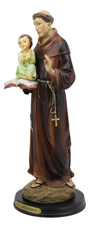 "Ebros Catholic Church Saint Anthony of Padua Carrying Baby Jesus Statue 12.75""H"