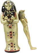 "Ebros 8.25"" Tall Egyptian Golden Pharaoh King TUT Sarcophagus Coffin with Mummy"