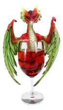 Cocktail Spirit Drunken Watermelon Daiquiri Dragon Statue Fantasy Decor Figurine