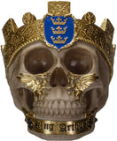 Ebros The Knights of The Round Table Skulls King Arthur Resin Skull Figurine