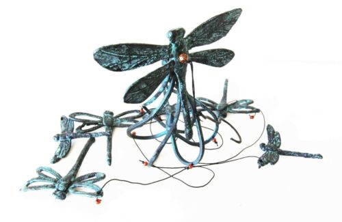 Ebros Cottage Garden Dragonfly Aluminum Resonant Relaxing Wind Chime Patio Garden Decor