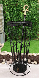 Ebros Black Rod Iron Cathedral Windows Walking Cane Or Umbrella Stand Holder