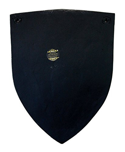 "Ebros Gift Large Medieval Knight Royal Arms Of England Three Lions Shield Wall Plaque 18""Tall"