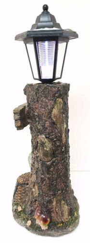 Summer Turtle Tortoise & Frog Hiker Statue With Solar Powered Lantern LED Light
