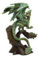 "Ebros Gaia Tree Ent Earth Adult Mother Dragon Perching On Branch Figurine 10""H"