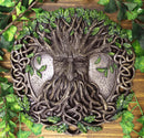 "Celtic Tree Of Life Oak Tree Spirit Ent Greenman God Wall Decor Plaque 12""D"