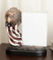 Patriotic Bald Eagle Bust And American Flag Statue With Glass 4X6 Picture Frame