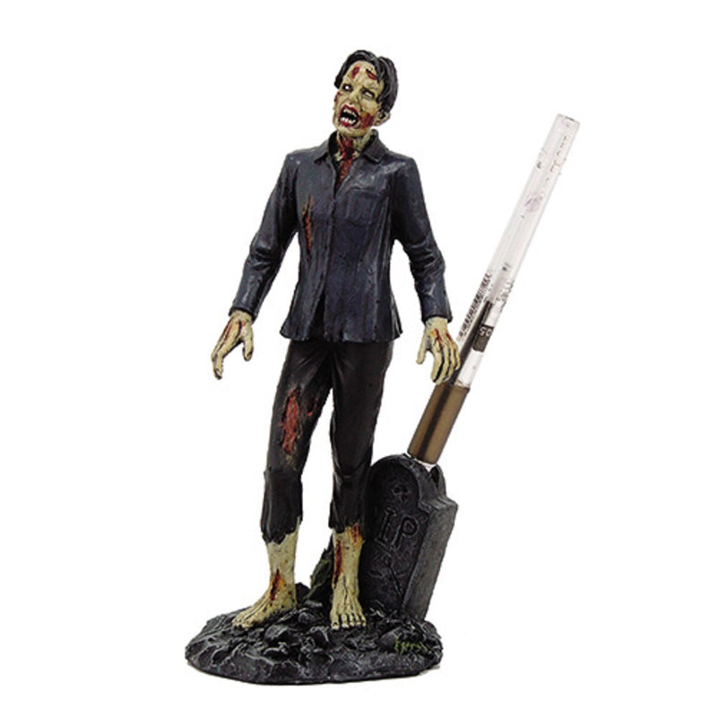 Ebros Zombie With Pen Holder Collectible Figurine Office Decor Desktop