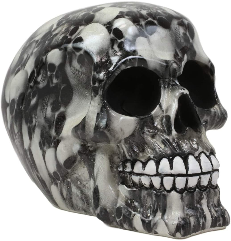 Ebros Day Of The Dead Black Ossuary Lost Souls Tattoo Sugar Cranium Skull Statue
