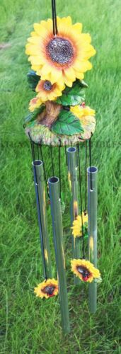 Beautiful Spring Sunflowers Bloom Resonant Relaxing Wind Chime Patio Garden