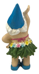 "Ebros Free Spirited Hippie Hawaii Themed Vacation Fairy Garden Mrs Hula Bikini Gnome Figurine 6"" Tall DIY Mrs Lady Gnomes Collection Statue Home Decor"
