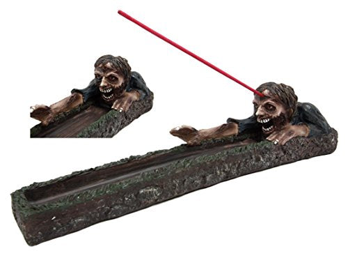 "Ebros Gift Zombie Walking Dead Rising From Grave Incense Stick Burner Figurine 12"" Long"